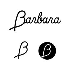LOGO  Barbara is female cloth brand from Yogyakarta