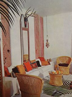 Such great boho inspiration from 1970's decorator books.