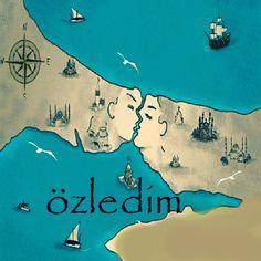 Istanbulun iki yakası gibiyiz sevgili , sürekli birbirine bakan fakat hiç kavuşamayan . . .
