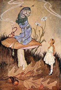 """It is a very good height indeed!"" said the Caterpillar angrily - Alice in Wonderland, 1916"