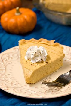 Pumpkin Mousse Pie Recipe Card