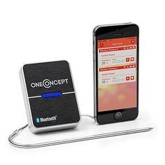 oneConcept Meatmaster - Thermomètre / sonde de cuisson Bluetooth pour la viande - données en temps réel sur smartphone, tablette android avec alarme (-50°C - 300°C) - noir OneConcept http://www.amazon.fr/dp/B00SX02SGS/ref=cm_sw_r_pi_dp_LdEswb1G75TWB