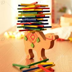 6.66$  Watch now - http://diy0i.justgood.pw/go.php?t=188261201 - Wooden Camel Balance Building Block Educational Toy