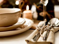 Rustic Spring table setting