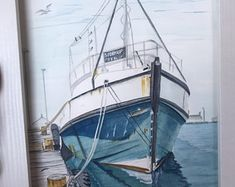 Amandas Watercolour Art by AmandasArtZA on Etsy Watercolor Paintings, Original Paintings, Beautiful Roses, Art For Sale, Sailing Ships, Colored Pencils, Coastal, Africa, Etsy