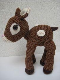 Handmade little dear crochet by Ollebol & Muis SOLD