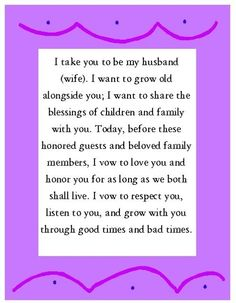 Wedding Vows Wednesday 4 24 13