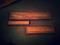 Scrap wood, gift bag handles, a little vinegar and love make a cute gift! Thanks Greg <3