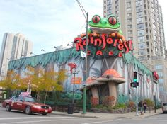 Rainforest Cafe- a must do on the Brookfield Zoo trip Chicago Travel, Chicago Trip, Chicago Illinois, Brookfield Zoo, Rainforest Cafe, Vacation Trips, Vacations, American Traditional, Best Places To Eat