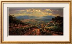 Tuscany Splendor Print by Leon Roulette at Art.com