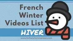 French Winter Videos List: great French videos for kids to practice winter-related vocabulary! Learning French For Kids, Ways Of Learning, Spanish Language Learning, French Teaching Resources, Teaching French, Teaching Spanish, French Lessons, Spanish Lessons, Season Calendar