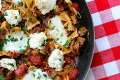 bow tie pasta and italian turkey sausage skillet dinner