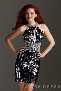 2014 New Arrival Covetable Sheath / Column Halter Crystal Detailing Homecoming Dress at Storedress.com