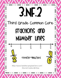 FREE!!!!    3rd Grade Common Core NF.2 Fractions and Number Lines