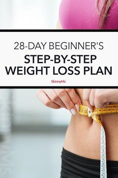 Lose the complicated workout program and try this simple, extremely effective 28-day beginner's step-by-step weight loss plan! #ModelDietPlan Weight Loss Workout Plan, Weight Loss Meal Plan, Easy Weight Loss, Weight Loss Program, Healthy Weight Loss, Weight Loss Smoothies, Lose Weight In A Week, Losing Weight Tips, How To Lose Weight Fast