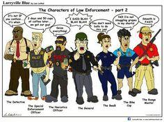 #larryvilleblue Characters of Law Enforcement - Part 2