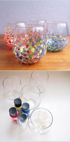 Ingeniosa decoración para tus vasos