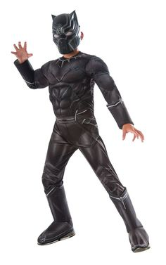 Description #620593 100% Polyester, officially licensed child's costume from Captain America: Civil War movie Includes: - Muscle Chest jumpsuit with attached gauntlets - Boot tops - Mask Sizes: S, M,