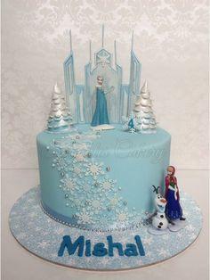 Frozen Theme Cake, Frozen Bday Party, Elsa Birthday Cake, Button Cake, Elsa Cakes, Cupcake Cakes, Cupcakes, Baby Girl Cakes, Disney Cakes