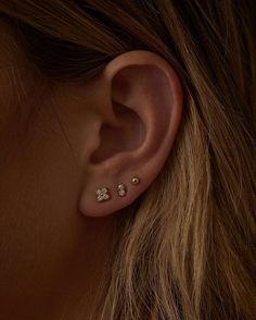 ear piercing ideas Whats your dream come by to curate your own ear, and get pierced. this Saturday May at By George on South Congress, Piercing Face, Pretty Ear Piercings, Multiple Ear Piercings, Ear Jewelry, Cute Jewelry, Jewelry Ideas, Jewellery, Cartilage Earrings, Stud Earrings