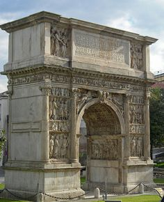 Arch of Trajan, Benevento, Italy, built between 114 and 117.