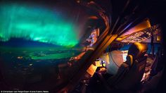 The scenes are amazing, with thunderstorms lighting up the insides of clouds, lightning streaking across the sky like cracks in a windscreen, the Northern Lights sweeping uninterrupted across the atmosphere and the galaxy stretching on forever. This image was taken over Canada