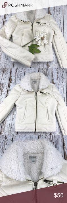 💕SALE💕Guess Cream Soft Sheepskin Jacket Gorgeous 💕Guess Cream Soft Sheepskin Jacket 100% Polyester Guess Jackets & Coats