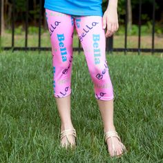 Girls Candy Pink NAME Arden Capri Leggings
