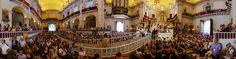 Panoramica del interior de la Basilica de Santa María en Elche