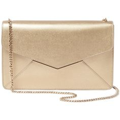 51d2c40fc08a Furla Women s Cherie Medium Metallic Leather Envelope Pochette ( 230) ❤  liked on Polyvore featuring bags