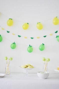 Lemon and Lime Balloon Garlands