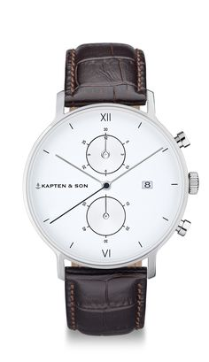 Chronograph for men with brown leather strap | Kapten & Son