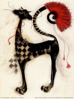 Sebastian the Cat Art Print by Marilyn Robertson