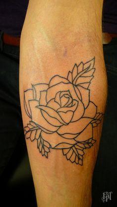 rose outline.