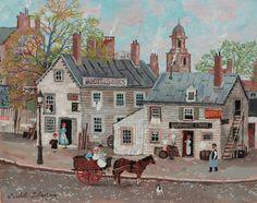 """La maisons de bois. Acrylic on canvas. 10½"""" x 13½"""""""