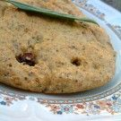 Golden Flax Bread 2/3 C flax meal (I like Bob's Red Mill Golden Flax, hand ground – but that's just my preference from what I've tried so far) 1/3 C almond meal (optional, but nice, other nut meals such as acorn can be substituted) 1 – 1.5 tsp Baking Powder Salt to taste  appr 3 tsp olive oil or butter or unrefined coconut oil  2 eggs (1 egg will suffice, but 2 eggs holds together just a bit better) water to texture desired