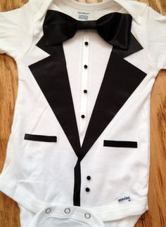 Boys Tuxedo Gerber Child of Mine Carters Onesie Shirt by LilTuxes, $18.00