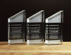 Crystal Manhattans are simple and sleek. At thick they are impressive to hold. Glass Awards, Crystal Awards, Tombstone Designs, Employee Awards, Leo, Acrylic Trophy, Custom Trophies, Personalized Plaques, Trophy Design