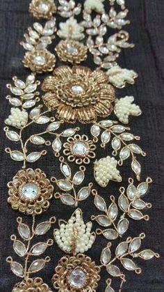 Zardozi Embroidery - Manufacturers, Suppliers & Exporters of Zardozi Embroideries