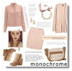 """""""Monochrome - ( Millie )"""" by artistic-biscuit ❤ liked on Polyvore featuring H&M, Charlotte Russe, T-shirt & Jeans, Boohoo, INC International Concepts, Miss Selfridge and contemporary"""