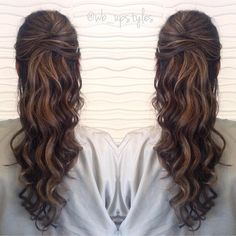 half up half down prom hairstyle