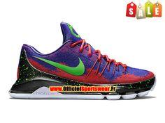 Nike KD 8/VIII Chaussure de Nike Basket-ball Pas Cher Pour Homme Bleu/Orange/Vert 828368-A001