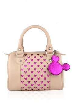 Disney Monopop by Satya Paul Nude and pink Mickey Mouse blowler bag Rs 3,995