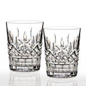 """Waterford Crystal """"Lismore Classic"""" Double Old Fashioned Glass, Pair"""