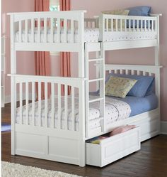 Marvellous Twin Bunk Beds Design with delectable photograph: White Colored Twin Bunk Beds With Blue Mattress As Good Looking Photographs ~ ovceart.com Bedroom Inspiration