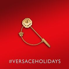 This #Versace gold tie pin will make you stand out. Find more #VERSACEHOLIDAYS goods on versace.com