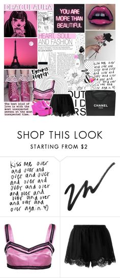 """""""✩; calling all the monsters —"""" by cosmic-qveen ❤ liked on Polyvore featuring WALL, Chanel, Dolce&Gabbana, Twin-Set, Dries Van Noten and cosmiccreations"""