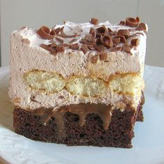Polish Chocolate Cloud Torte Recipe - Chmura Tort Czekoladowy
