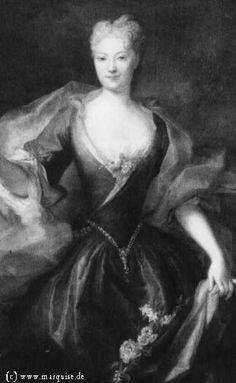 Princess Lubomirska, nee Vitzthum by Silvestre, 1724  Gemäldegalerie Alte Meister, Dresden