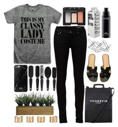 """""""Untitled #4869"""" by prettyorchid22 ❤ liked on Polyvore featuring Yves Saint Laurent, Native Union, Givenchy, Laura Ashley, Maison Margiela, NARS Cosmetics, Home Decorators Collection, MAC Cosmetics, women's clothing and women"""